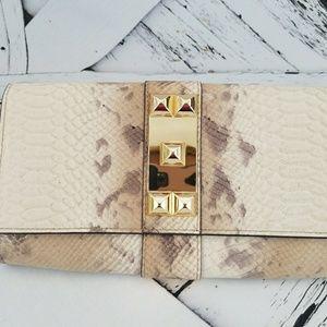 Vince Camuto Snake Print Glitter Genuine Leather